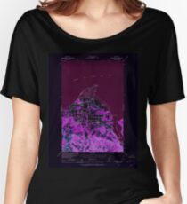 USGS Topo Map Washington State WA Dungeness 240899 1938 62500 Inverted Women's Relaxed Fit T-Shirt