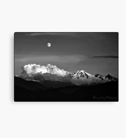 Mount Baker in Black Canvas Print