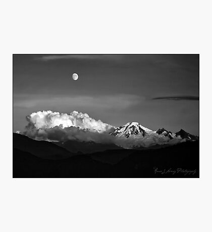 Mount Baker in Black Photographic Print