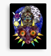 Majora's Mask Stained Glass Canvas Print