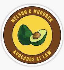 Avocados at law Sticker