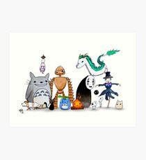Ghibli Friends  Art Print
