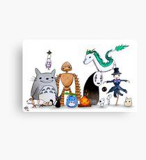 Ghibli Friends  Canvas Print