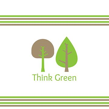 Think Green iPhone Case by sweettoothliz
