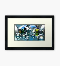 A Visit To The Chrome Museum Framed Print