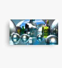 A Visit To The Chrome Museum Canvas Print