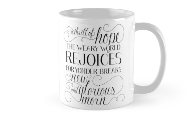 A Thrill of Hope Mugs by dearlillie