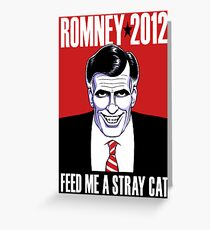 Mitt Romney: American Psycho Greeting Card