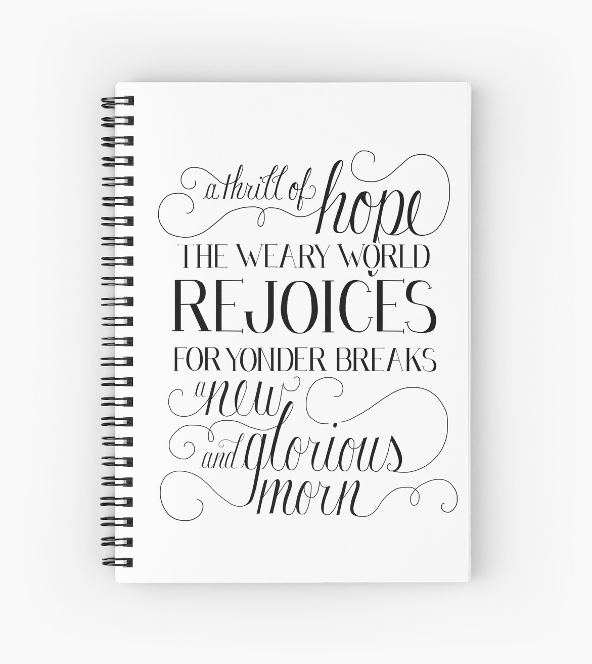 A Thrill Of Hope Notebook by dearlillie