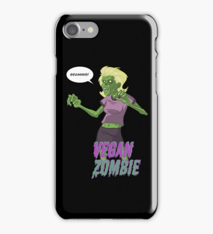 Lady Vegan Zombie iPhone Case/Skin