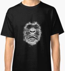 Gorilla Face In White Classic T-Shirt