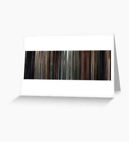 Moviebarcode: Drive (2011) Greeting Card