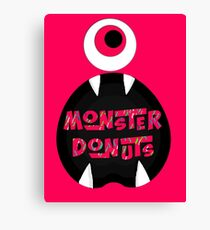 MoNsTeR DoNuTs CoLoR Canvas Print