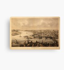Panoramic Maps Parkersburg Canvas Print
