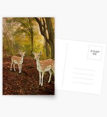 Two Little Deers Postcards