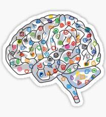 Social Media Human Brain  Sticker
