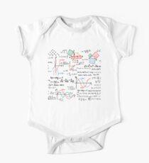Mathematik Formeln Zahlen Baby Body Kurzarm