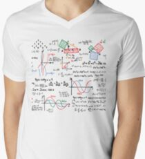 Camiseta para hombre de cuello en v Números de fórmulas matemáticas