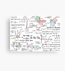 Mathematics Formulas Numbers  Canvas Print