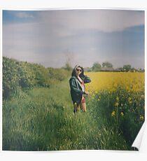 Rapeseed Field Portrait Poster