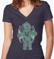 Kewthulhu Women's Fitted V-Neck T-Shirt