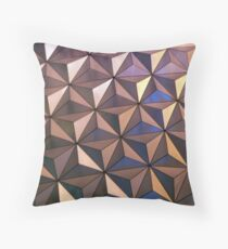 Epcot By Night Throw Pillow