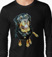 Rottweiler Photo Portrait Long Sleeve T-Shirt