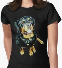 Rottweiler Photo Portrait Womens Fitted T-Shirt