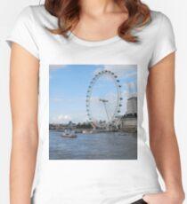 London - London Eye Women's Fitted Scoop T-Shirt