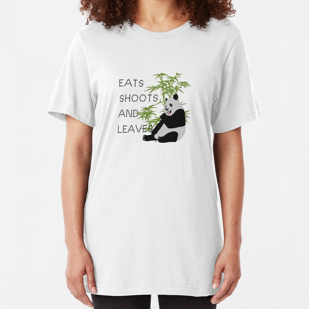 Eats, Shoots and Leaves Slim Fit T-Shirt