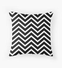 Black and White Chevron Stripe Pillow Throw Pillow