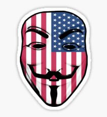Guy Fawkes American Flag Sticker