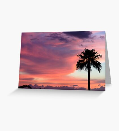 Sunset in Los Gigantes Greeting Card