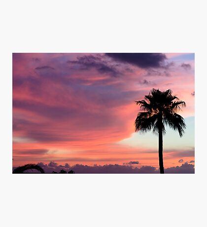 Sunset in Los Gigantes Photographic Print