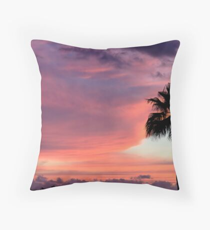 Sunset in Los Gigantes Throw Pillow