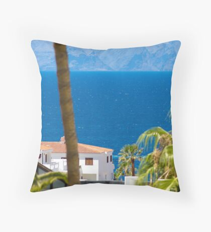 The view down to the sea Throw Pillow