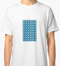 Penguin Pattern on Blue Background Classic T-Shirt