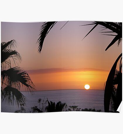 Sunset in Los Gigantes Poster