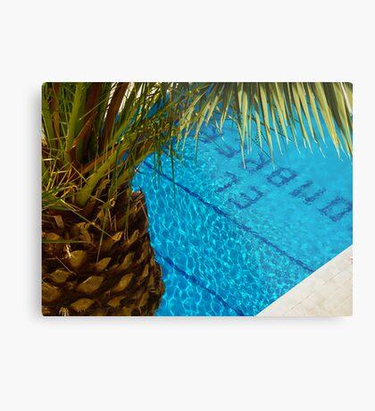 The pool at El Sombrero Metal Print