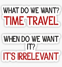 Time Travel Protest Sticker