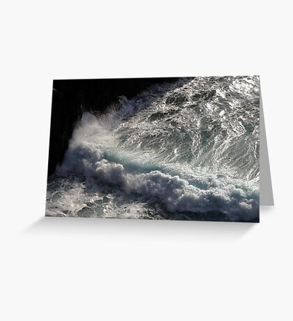 Crab Island waves Greeting Card