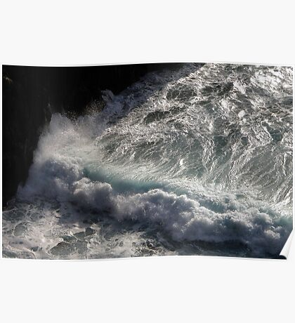 Crab Island waves Poster