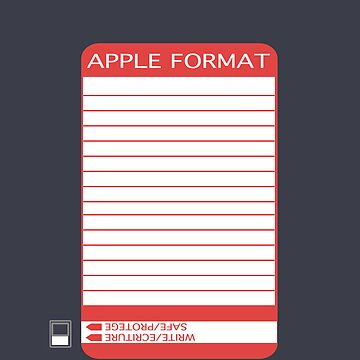 iPhone Floppy Label - red by pulpfaction