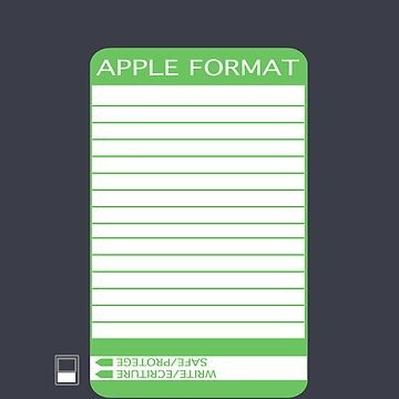 IPhone Floppy Label - green by pulpfaction