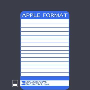 iPhone Floppy Label - blue by pulpfaction