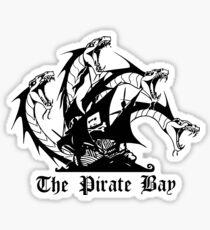 The pirate bay. HACKER Sticker