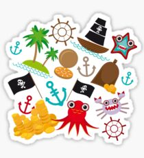 Marine pirate pattern Sticker