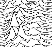 Music band waves - white&black Sticker