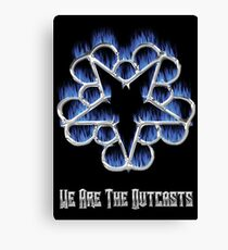 Fiery Chrome Black Veil Brides Star - We Are The Outcasts Canvas Print