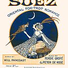 SUEZ (vintage illustration) by ART INSPIRED BY MUSIC